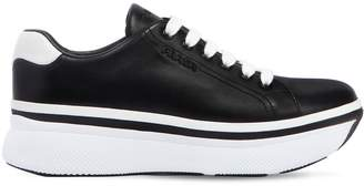 Prada 55mm Leather Platform Sneakers