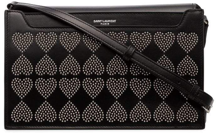 Saint Laurent Black Catherine Leather Studded Crossbody - ShopStyle Shoulder 3e8f829774ee8