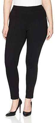 Lark & Ro Women's Plus Size Compression Straight Leg Pants