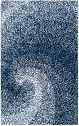 nuLoom Hand Tufted Dolly Swirl Rug - Blue