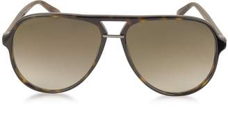 Gucci GG0015S Acetate Aviator Men's Sunglasses