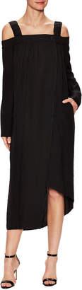 Celine Square Neck Asymmetric Dress