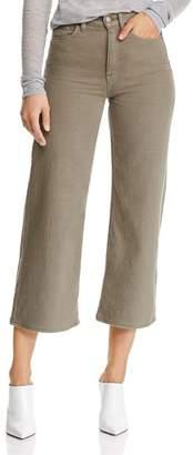 Hudson Holly Crop Wide-Leg Jeans in Desert Sage