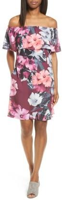Women's Cece Floral Off The Shoulder Shift Dress $129 thestylecure.com