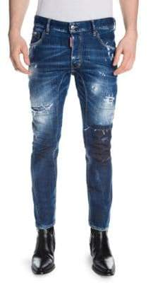 DSQUARED2 Light Worked Slim Fit Jeans