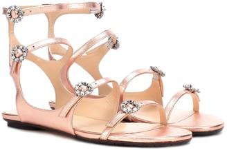 Jimmy Choo Naia embellished leather sandals