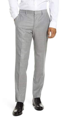 BOSS Giro5 Slim Fit Flat Front Wool Dress Pants