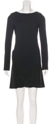 Thomas Wylde Long Sleeve Ruffle-Trimmed Dress