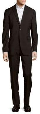 Original Penguin Tonal Check Classic-Fit Wool Blend Suit