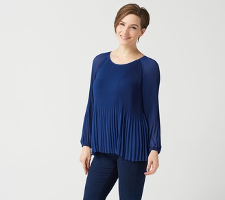 Laurie Felt Pleated Chiffon Top