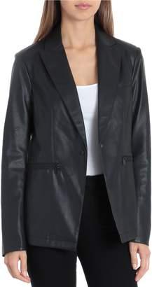 Bagatelle Faux Leather Blazer