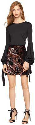Milly SEQUINED VELVET MODERN MINI SKIRT