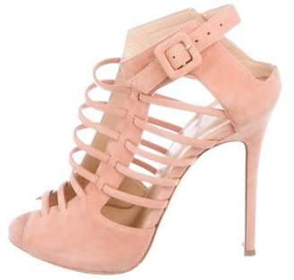 JLO by Jennifer Lopez Giuseppe for Suede Caged Sandals