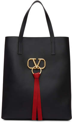 Valentino Black Garavani Large VRing North/South Shopper Tote