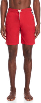 Solid & Striped Red Piped Board Shorts