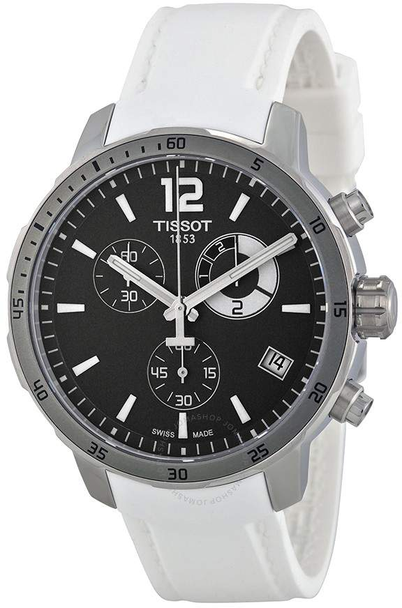 Quickster Soccer World Cup Black Dial White Silicone Men's Watch T0954491706700