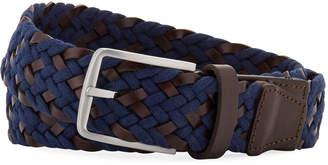 Neiman Marcus Men's Braided Leather Belt