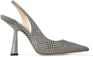 Jimmy Choo FETTO 100 Silver Prince of Stars Glitter Pointed Toe pumps