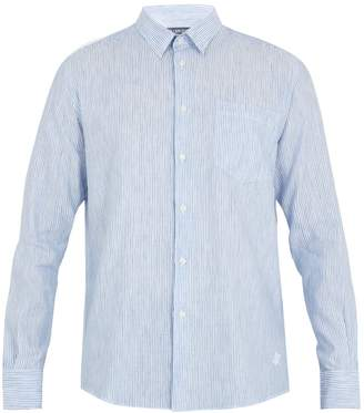 Vilebrequin Caroubis button-cuff linen and cotton-blend shirt