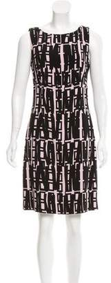 Milly Abstract Print Knee-Length Dress w/ Tags
