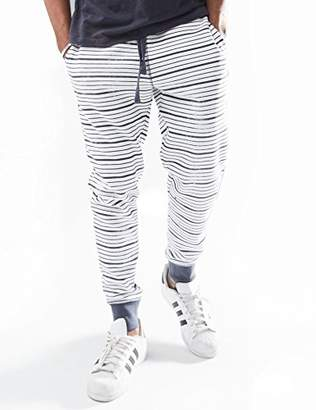 Rebel Canyon Young Men's Slim Fit Printed Striped Jogger Sweatpant