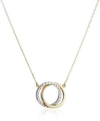 Two-Tone 14k Gold Interlocking Circle Pendant Necklace