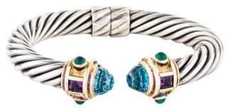 David Yurman Topaz, Amethyst, & Chalcedony Renaissance Bracelet