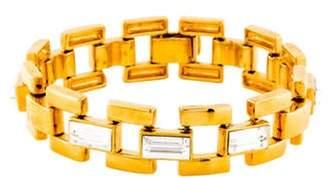 Diane von Furstenberg Crystal Link Bracelet Gold Crystal Link Bracelet