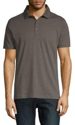 Saks Fifth Avenue Printed Short-Sleeve Cotton Polo