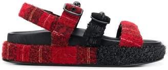 Simone Rocha triple strap platform sandals