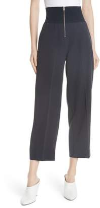 Carven Exposed Zip Wide Leg Pants