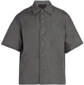 Prada Short Sleeved Shirt - Mens - Grey