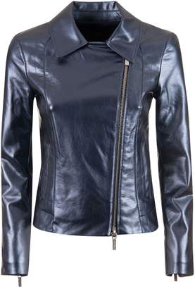 Armani Collezioni Zipped Biker Jacket
