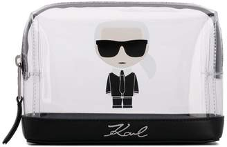 Karl Lagerfeld Paris K/Ikonik transparent pouch