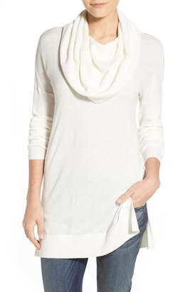 Caslon Side Slit Convertible Cowl Neck Tunic (Regular & Petite)