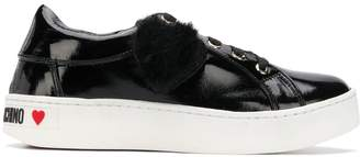 Love Moschino fluffy heart sneakers