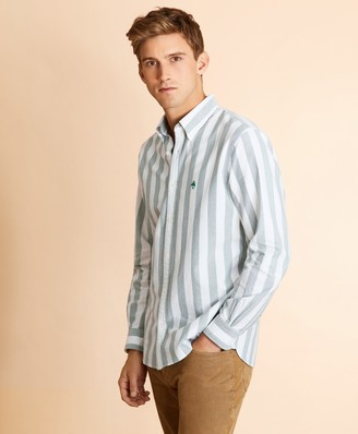 Brooks Brothers Broad Striped Cotton Oxford Shirt