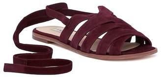 LK Bennett Selma Suede Tie Sandal