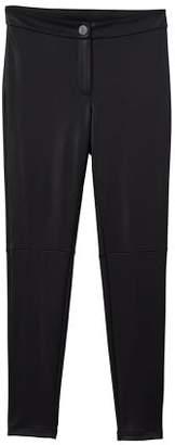 MANGO Glossed-effect leggings