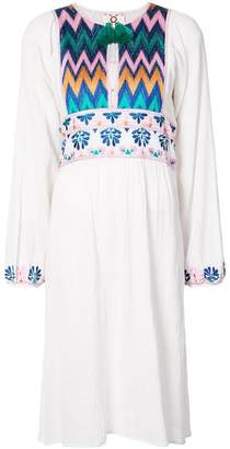 Figue Violeta embroidered peasant dress