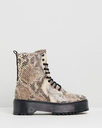 Bronx Rifka Super Chunky Snake Ankle Boots