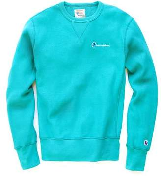 Todd Snyder + Champion Reverse Weave Retro Bright Sweatshirt In Dark Teal