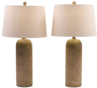 Set Of Two Rope Table Lamps