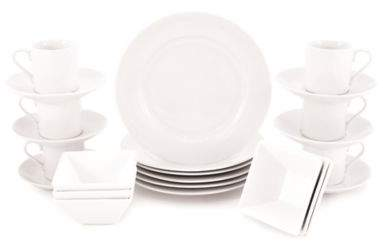 Maxwell & WilliamsTM White Basics Rim 24-Piece Cocktail Party Pack in White