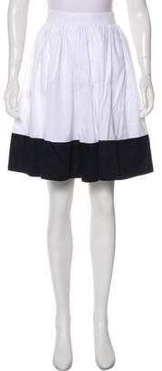The Row Colorblock Knee-Length Skirt
