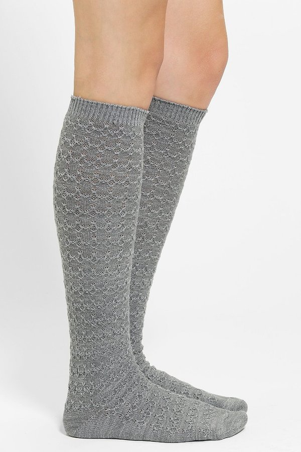 Urban Outfitters Cozy Cross-Stitch Knee-High Sock
