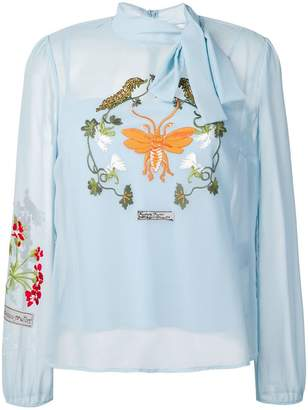 RED Valentino embroidered blouse