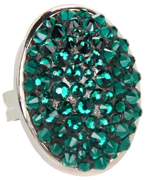 Tarina Tarantino Emerald Pretty Limited Edition Mod Ring (Emerald) - Jewelry