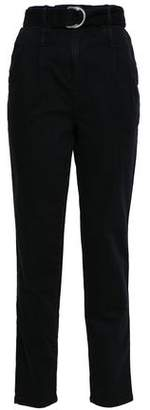 Maje Belted High-rise Straight-leg Jeans