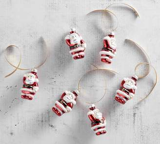 Pottery Barn Mercury Mini Santa Ornament Set